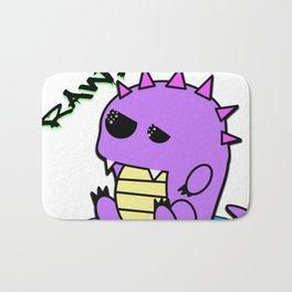 Muki the tired yami kawaii pastel dinosaur Bath Mat