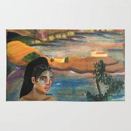 FKA Twigs as Dali's Self Portrait with Neck of Raphael Rug