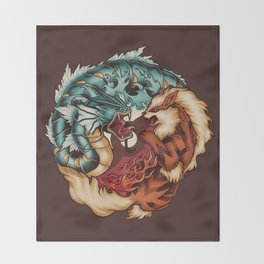 The Tiger and the Dragon Throw Blanket