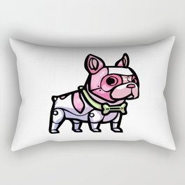 Pink Gorilla X Enfu Bulldog Mech  Rectangular Pillow