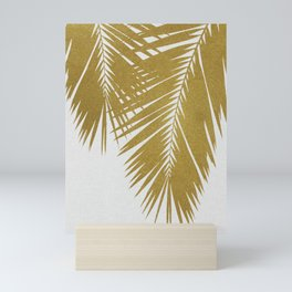Palm Leaf Gold II Mini Art Print