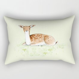 Happy Fallow Deer Rectangular Pillow