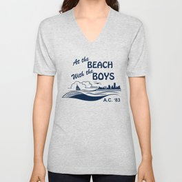At the Beach with the Boys Unisex V-Neck