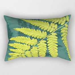 From the forest - lime green on teal Rectangular Pillow