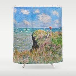 Claude Monet Cliff Walk At Pourville 1882 Shower Curtain