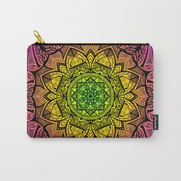 Mandala Rainbow Square Carry-All Pouch