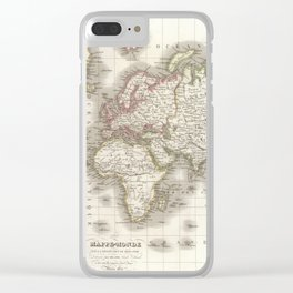 Vintage Map of The World (1832) Clear iPhone Case
