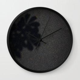 shadow flower Wall Clock