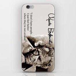 BUKOWSKI - people QUOTE #2 - sepia iPhone Skin