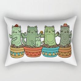 Catcus Garden (Single Row) Rectangular Pillow