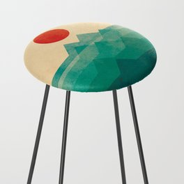 The ocean, the sea, the wave Counter Stool