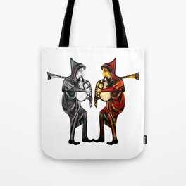 Dueling Pipers Tote Bag