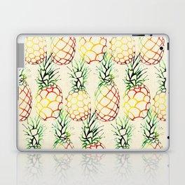 Burlap Pineapples Laptop & iPad Skin
