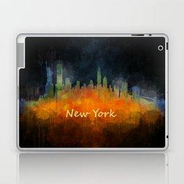 New York City Skyline Hq V04 Laptop & iPad Skin