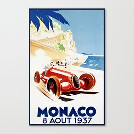 Monaco 1937 Grand Prix Canvas Print