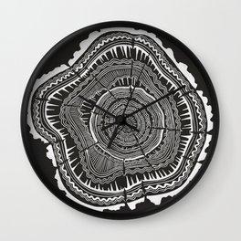 Growth Rings – 65 Years – Black Wall Clock