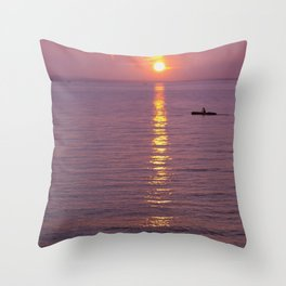 Peaceful sunset at the Bodensee Throw Pillow