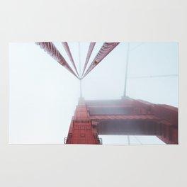 Golden Gate Bridge fogged up - San Francisco, CA Rug
