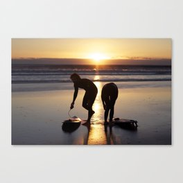 Sunrise Surfers Byron Bay Canvas Print