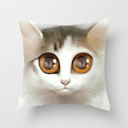 Kitten 3 Throw Pillow