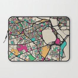 Colorful City Maps: Arlington County, Virginia Laptop Sleeve