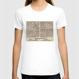 Aerial View of Yonkers, New York (1899) T-shirt