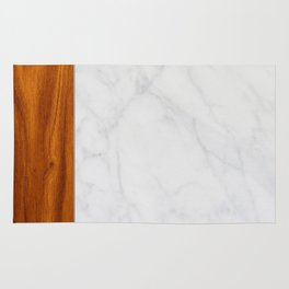 Marble and Wood 2 Rug