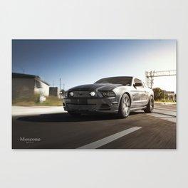 Mustang Crusing Canvas Print