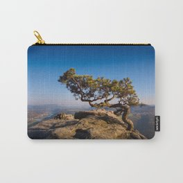 Crooked Tree in Elbe Sandstone Mountains Carry-All Pouch