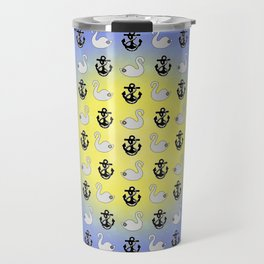 Captain Swan – Lieutenant Duckling pattern Travel Mug