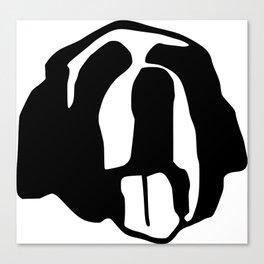 Saint Bernard face silhouette, Bernese Mountain Dog, Newfoundland Canvas Print