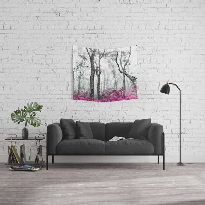 Princess Pink Forest Garden Wall Tapestry