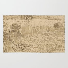 Arles: View from the Wheatfields Rug