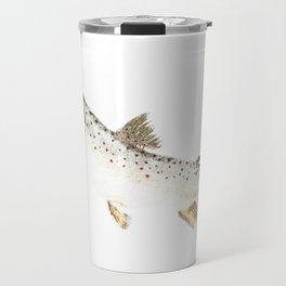 Brown Trout - Gyotaku Travel Mug
