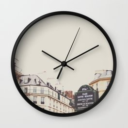 Place Sartre Beauvoir Wall Clock