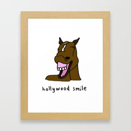hollywood smile Framed Art Print