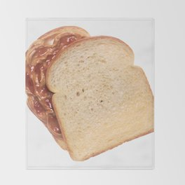 Peanut Butter and Jelly Sandwich Throw Blanket