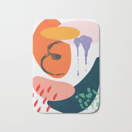 abstract dripping Bath Mat
