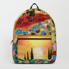 Tuscan Field of Poppies Backpack