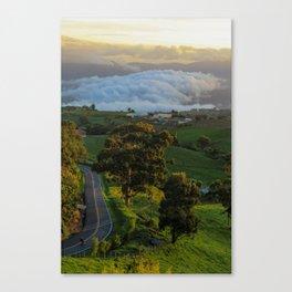 Sunset & street Canvas Print
