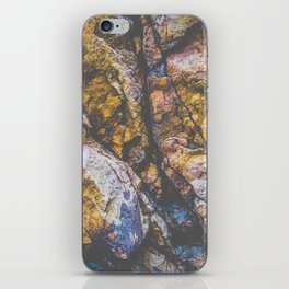 colorful textured rock background iPhone Skin