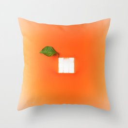 Orange out of the box Throw Pillow