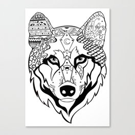 Sonya The Wolf Canvas Print