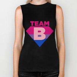 Team B Bisexual Symbol - Bi Sexual Flag Sign Biker Tank