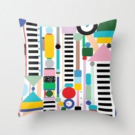 Postmodern Cityscape Throw Pillow