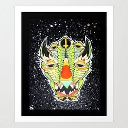 Swamp Creature of Death Art Print