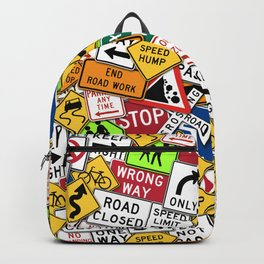 Street Signs Collage Backpack