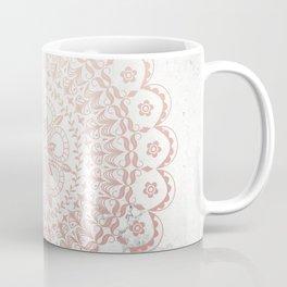 Rose gold mandala and grey marble Coffee Mug