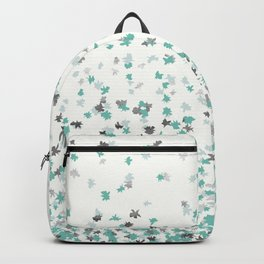 Floating Confetti - Cream Mint and Silver Backpack