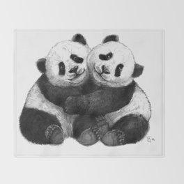 Panda's Hugs G143 Throw Blanket